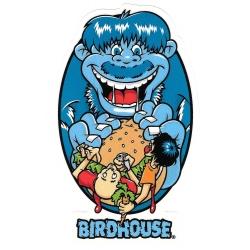 Birdhouse burger eater sticker