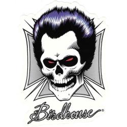 Birdhouse hell skull sticker