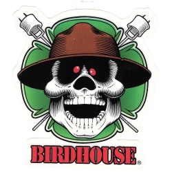 Birdhouse lucky marshmallow sticker