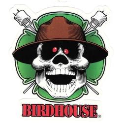 Birdhouse lucky marshmallow sticker