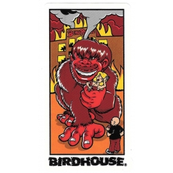 Birdhouse red kong sticker