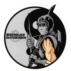 Birdhouse samurai dot sticker