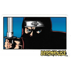 Birdhouse samurai eyes sticker
