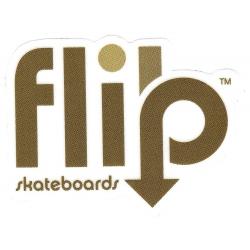 Flip arrow marroon sticker