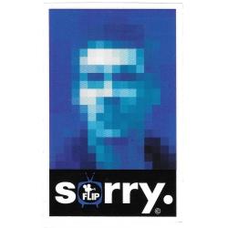 Flip arto saari sorry portrait sticker