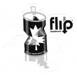 Flip canadian can sticker