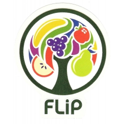 Flip fruit tree sticker