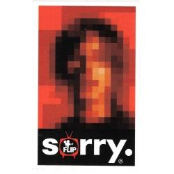 Flip geoff rowley sorry portrait sticker