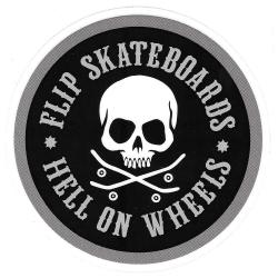 Flip hell on wheels sticker