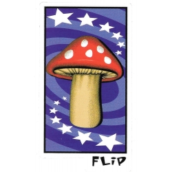 Flip magic mushroom sticker