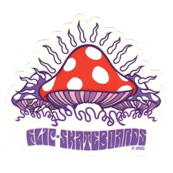 Flip mushroom purple sticker