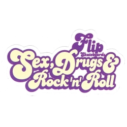 Flip sex drugs rocknroll sticker