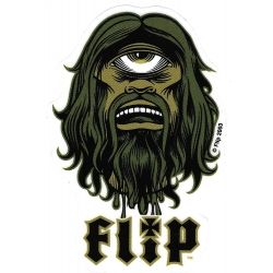 Flip single eye green sticker