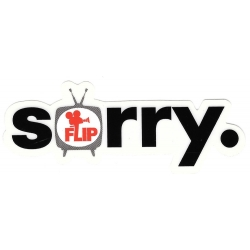 Flip sorry classic sticker