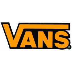 Vans classic neon orange sticker