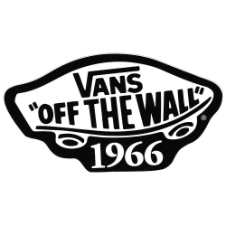 Vans off the wall 1966 black sticker