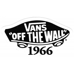 Vans off the wall 1966 white sticker