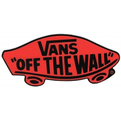Vans off the wall black red sticker