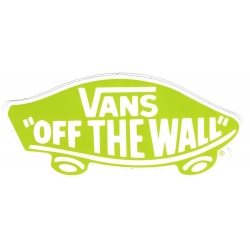 Vans off the wall light green sticker