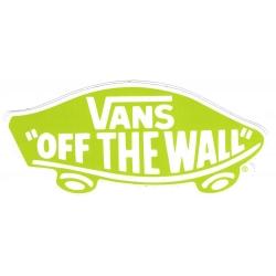 Vans von der Wand hellgrün aufkleber