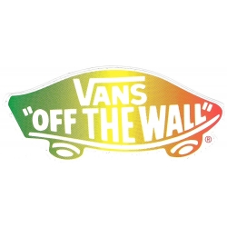 Vans off the wall rasta sticker