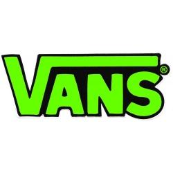 Vans round classic green fluo m sticker