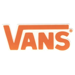 Vans round classic orange s sticker
