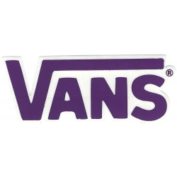 Vans round classic purple s sticker