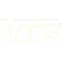 Vans round classic white l sticker