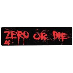 Zero zero or die blood sticker