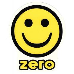 Zero smile yellow sticker