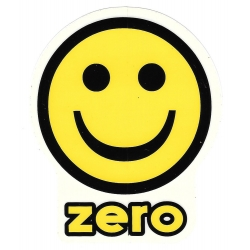 Zero smile yellow sticker