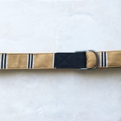 Brixton cream stripes belt