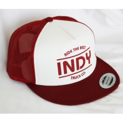 Independent Indy Logo Mesh Back Oxblood White cap