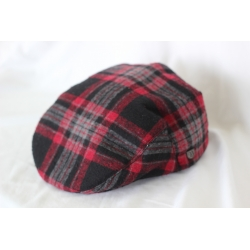 Brixton Hooligan Red Black Gray cap
