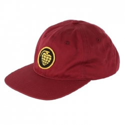 Thunder Grenade Patch Strap Burgundy casquette