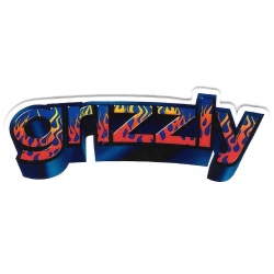 Grizzly 3d brand sticker