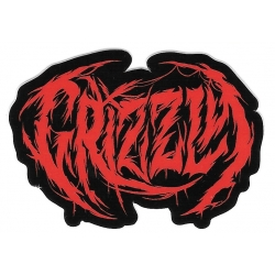 Grizzly bloody brand sticker