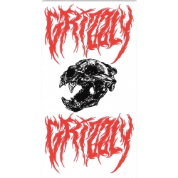 Grizzly bloody skull sticker