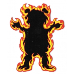 Grizzly flame bear sticker