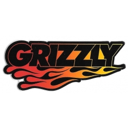 Grizzly flame brand sticker