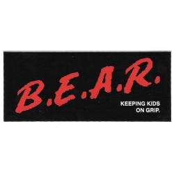 Grizzly keeping kids on grip sticker