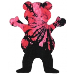 Grizzly tie dye bear sticker