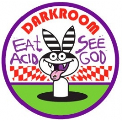 Darkroom White Rabbit sticker