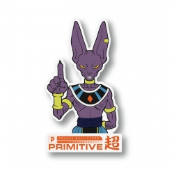 Primitive Beerus Classic Clear sticker