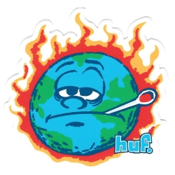 HUF Hot Earth sticker