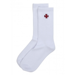 Independent Cross Sock White socks