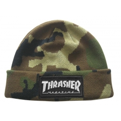 Thrasher Logo Patch Camo bonnet