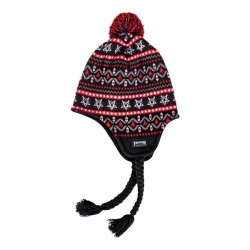 Thrasher Magazine Logo Sherpa Black Red bonnet