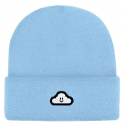 Thank You Cloudy Powder Blue cappellino